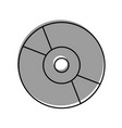 compact cd or dvd disk computer audio video vector image vector image