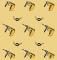 construction tools background vector image