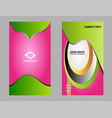 corporate business cards set vector image vector image