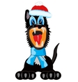 Dog in scarf and hat vector image vector image