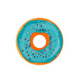 donut delicious with sprinkles isolated on white vector image vector image