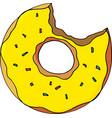 doughnut bright cartoon vector image