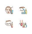 face care rgb color icons set vector image vector image