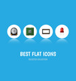 flat icon appliance set of unit hdd mainframe vector image vector image