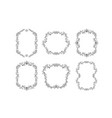 floral borders set for picture or italian ornament vector image