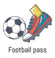 football pass icon cartoon style vector image vector image