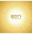 Gold White New Year Christmas Snowflake Background vector image vector image