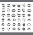 gray stickers set 5 vector image vector image