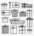 hand drawn doodle gift boxes vector image
