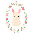 happy easter bunny for easter vector image