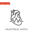 heartbeat ratev icon vector image vector image
