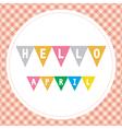 Hello April3 vector image vector image