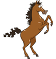 horse on hind legs vector image vector image