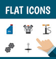 icon flat service set of pumping air engine vector image vector image