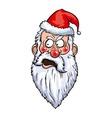 Indignant Santa Head vector image vector image
