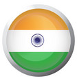 isolated flag of india vector image vector image