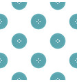 light blue sewing button pattern flat vector image