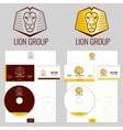 Lion logo templates set for your business vector image vector image