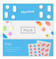 medical pills headers pharmacy banner template vector image
