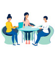 meeting office staff meeting work on one project vector image vector image