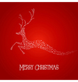 Merry Christmas deer star shape vector image vector image
