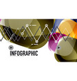 modern geometric presentation background vector image vector image