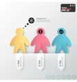 Modern infographics options banner with paper men vector image