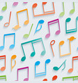 multicolor musical wallpaper vector image