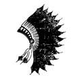native american indian headdress vintage black vector image