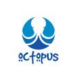 octopus sea animal logo vector image vector image