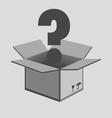 Opened cardboard box vector image vector image