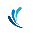 ornamental splash water logo template vector image vector image