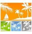 Palms color background vector image vector image