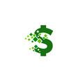 pixel money logo icon design vector image