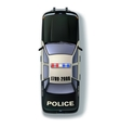 Police Car Top View vector image vector image