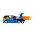 racing truck with flame turbo heavy vehicle vector image vector image