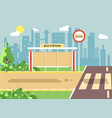 roadside cartoon landscape vector image