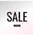sale banner with text vector image vector image