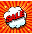 Sale Comic book explosion vector image vector image