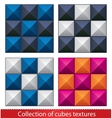 Seamless abstract cubes pattern vector image vector image