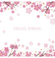 seamless cherry blossom background vector image vector image
