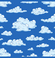seamless pattern with gorgeous natural cloudscape vector image vector image