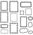 Set of hand drawing frames vector image vector image
