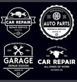 set of vintage monochrome car repair service vector image vector image