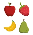 set tasty fruits healthy food vector image vector image