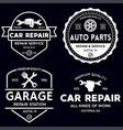 set vintage monochrome car repair service vector image vector image