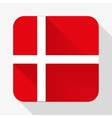 Simple flat icon Denmark flag vector image vector image