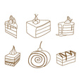 sketch cake element vector image vector image