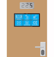 Smart door screen vector image vector image
