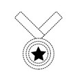 star medal design vector image vector image